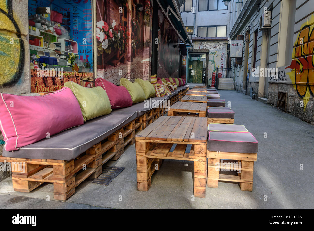 Wooden bar - Stock Image