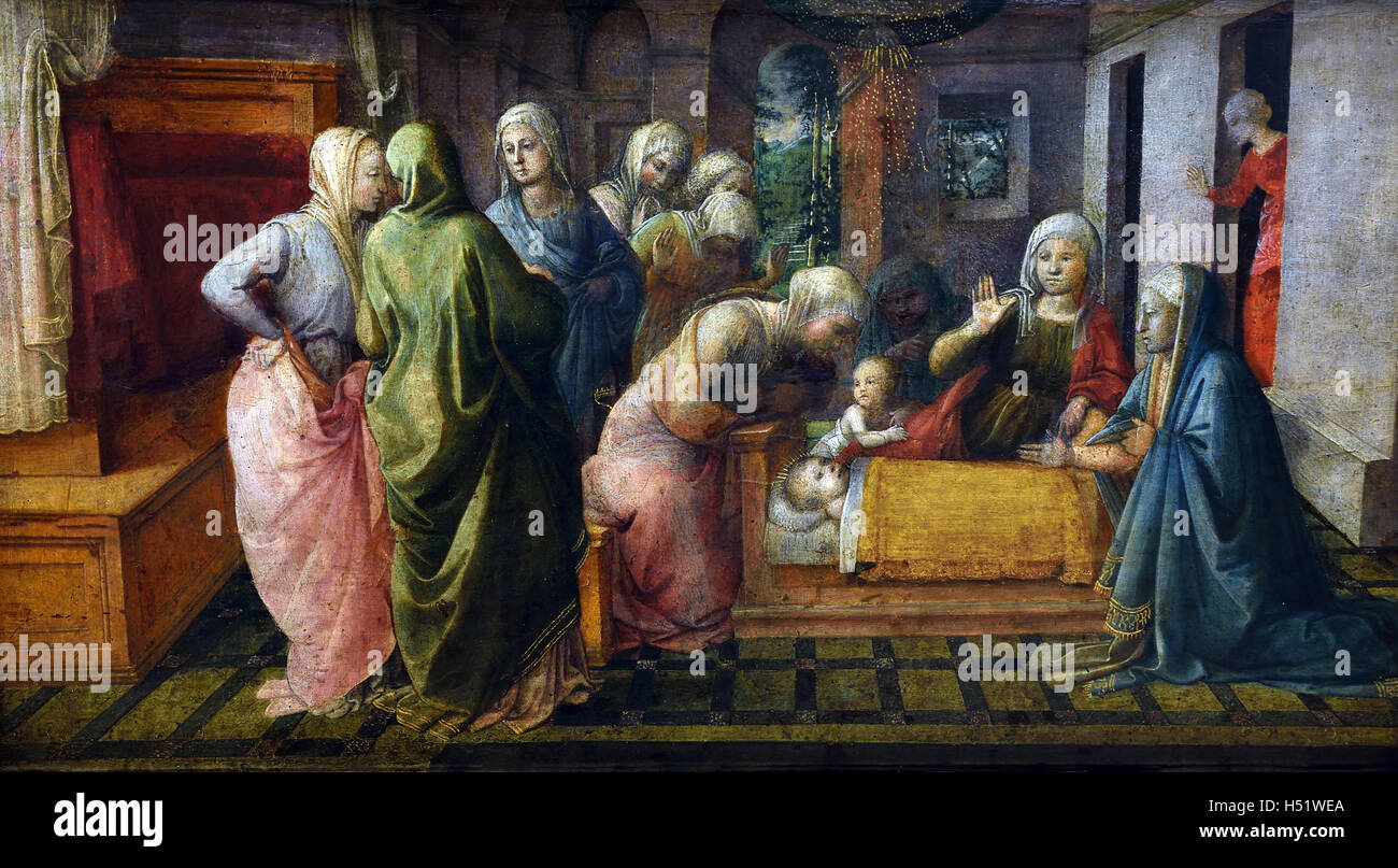 The miracle of St. Ambrose by Fra Filippo Lippi 1445 painter Italy Italian15th Century - Stock Image