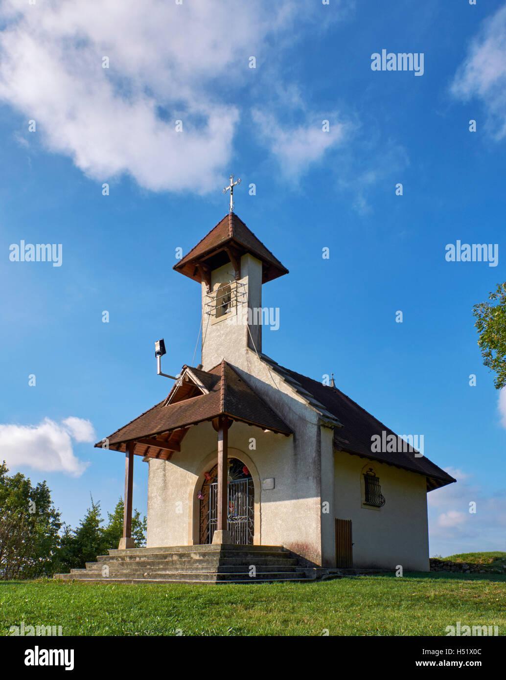 Chapelle Saint-Romain on the Camino de Santiago above Jongieux-le-Haut. Savoie, France. - Stock Image