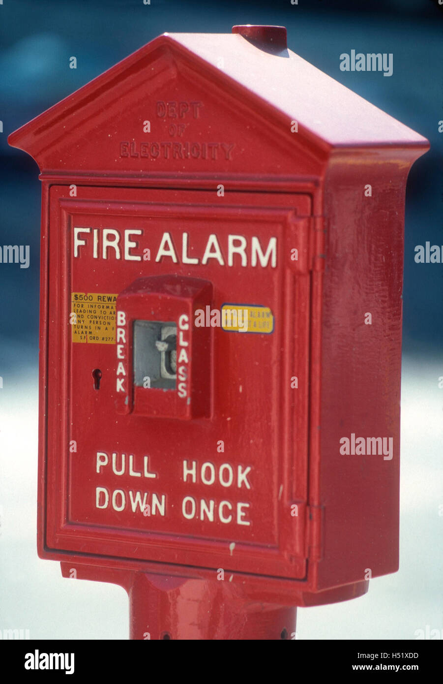 FIRE ALARM in USA - Stock Image