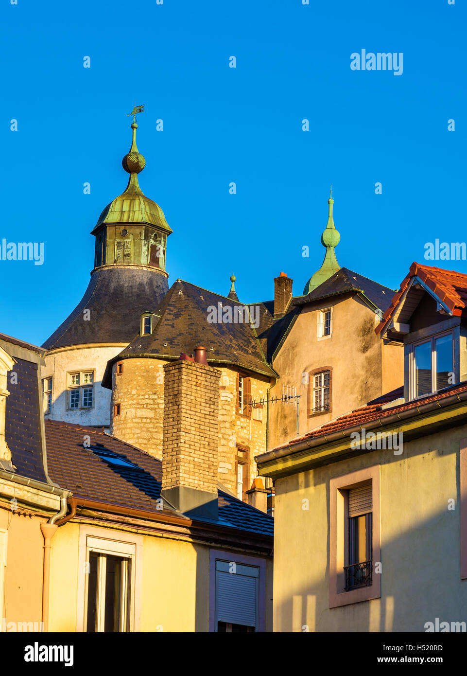 Chateau de Montbeliard as seen from the city - France - Stock Image