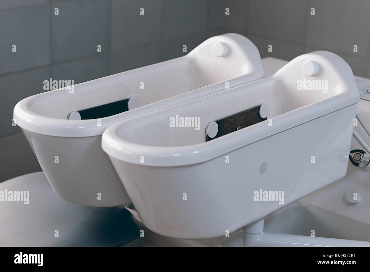 Therapy tub. Galvanic bath tub. Electrotherapy. - Stock Image