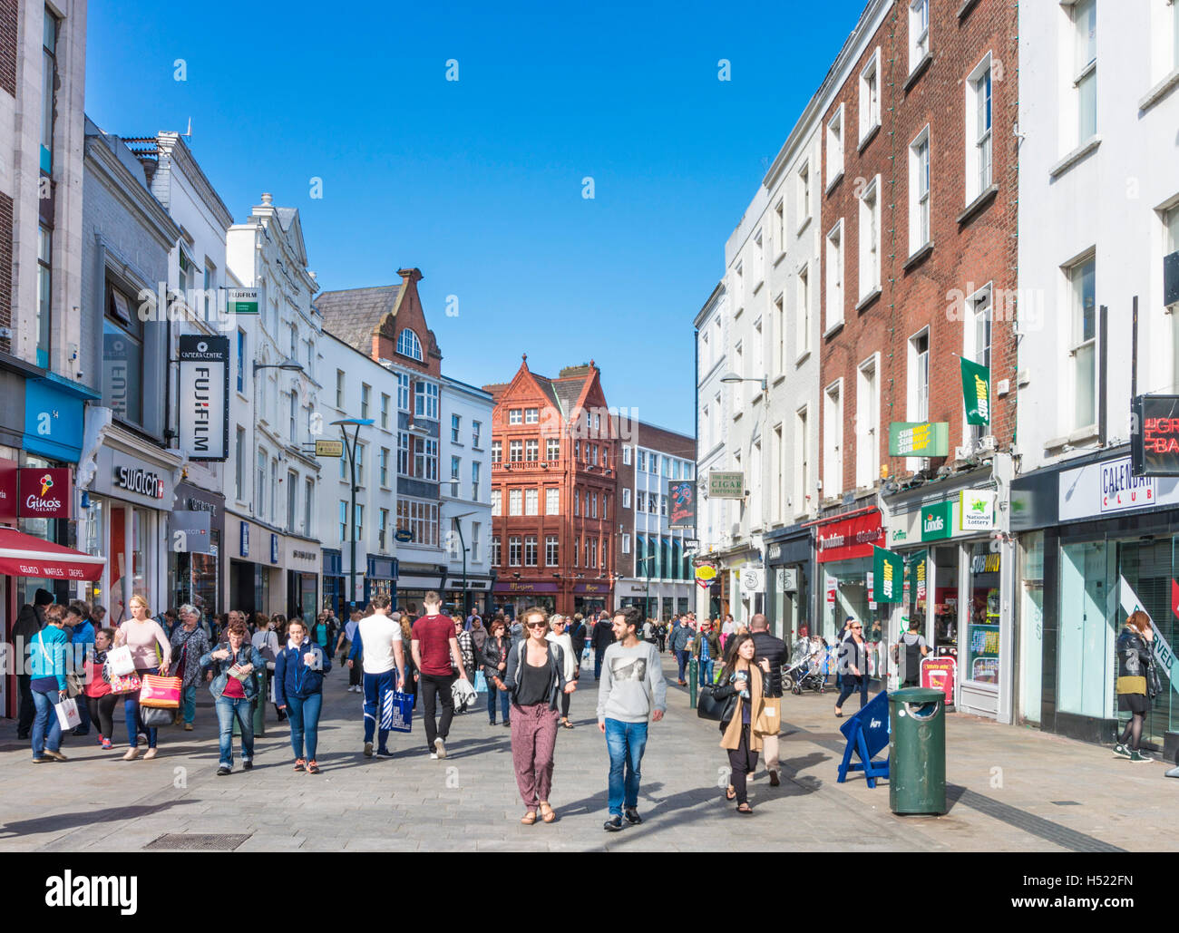 Grafton Street Dublin City Centre Dublin Ireland Europe EU - Stock Image