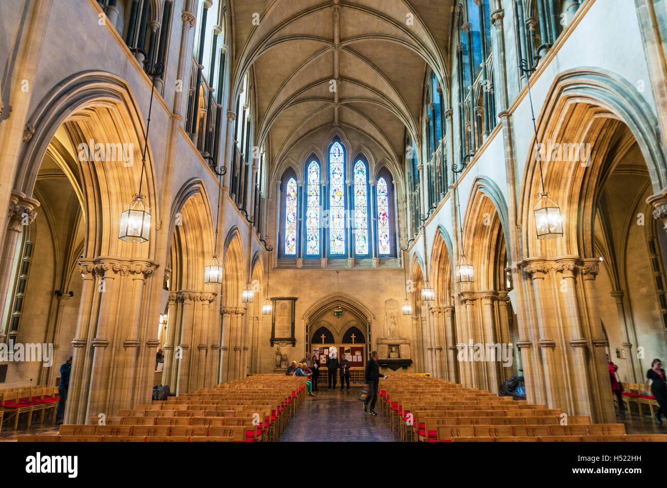 Interior of Christ church cathedral Dublin Ireland Europe EU - Stock Image