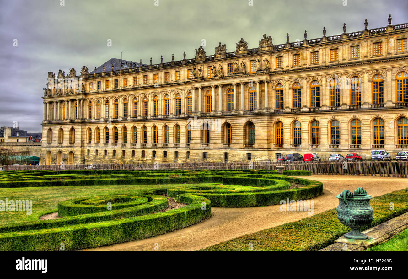 View of the Palace of Versailles - France - Stock Image