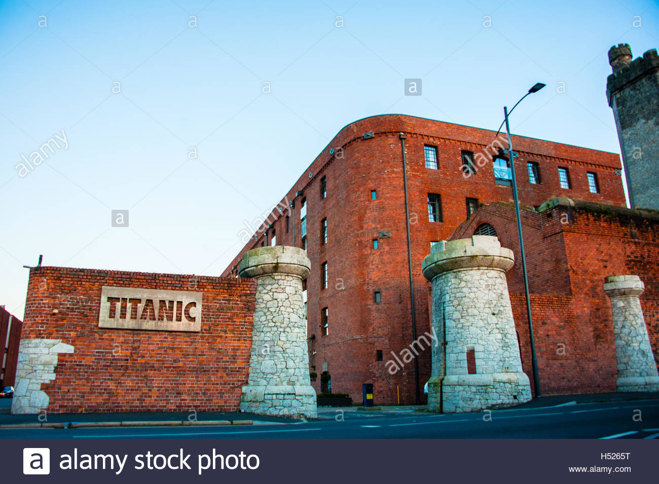 Titanic Hotel in Liverpool at Dusk, part of the development of the historic 19th Century Stanley Dock complex Stock Photo