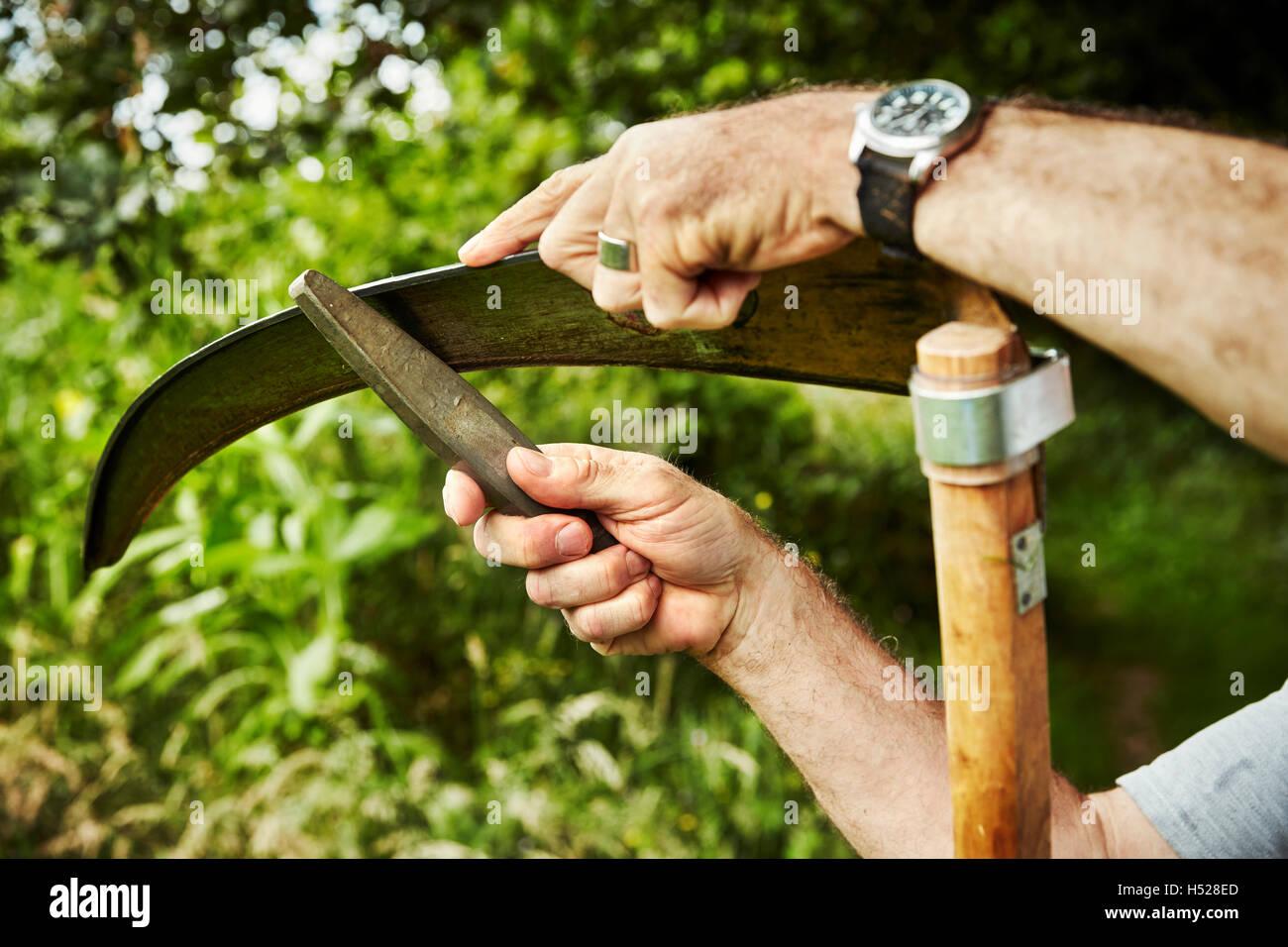Scythe Blade Stock Photos & Scythe Blade Stock Images - Alamy