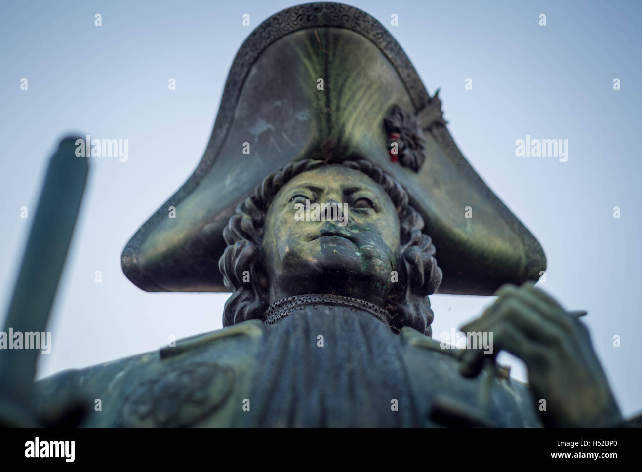 Peter the Great statue in south east London, UK. - Stock Image