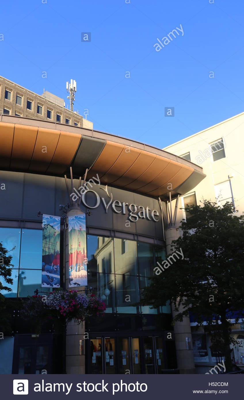 Exterior of Overgate Shopping Centre Dundee Scotland  October 2016 Stock Photo