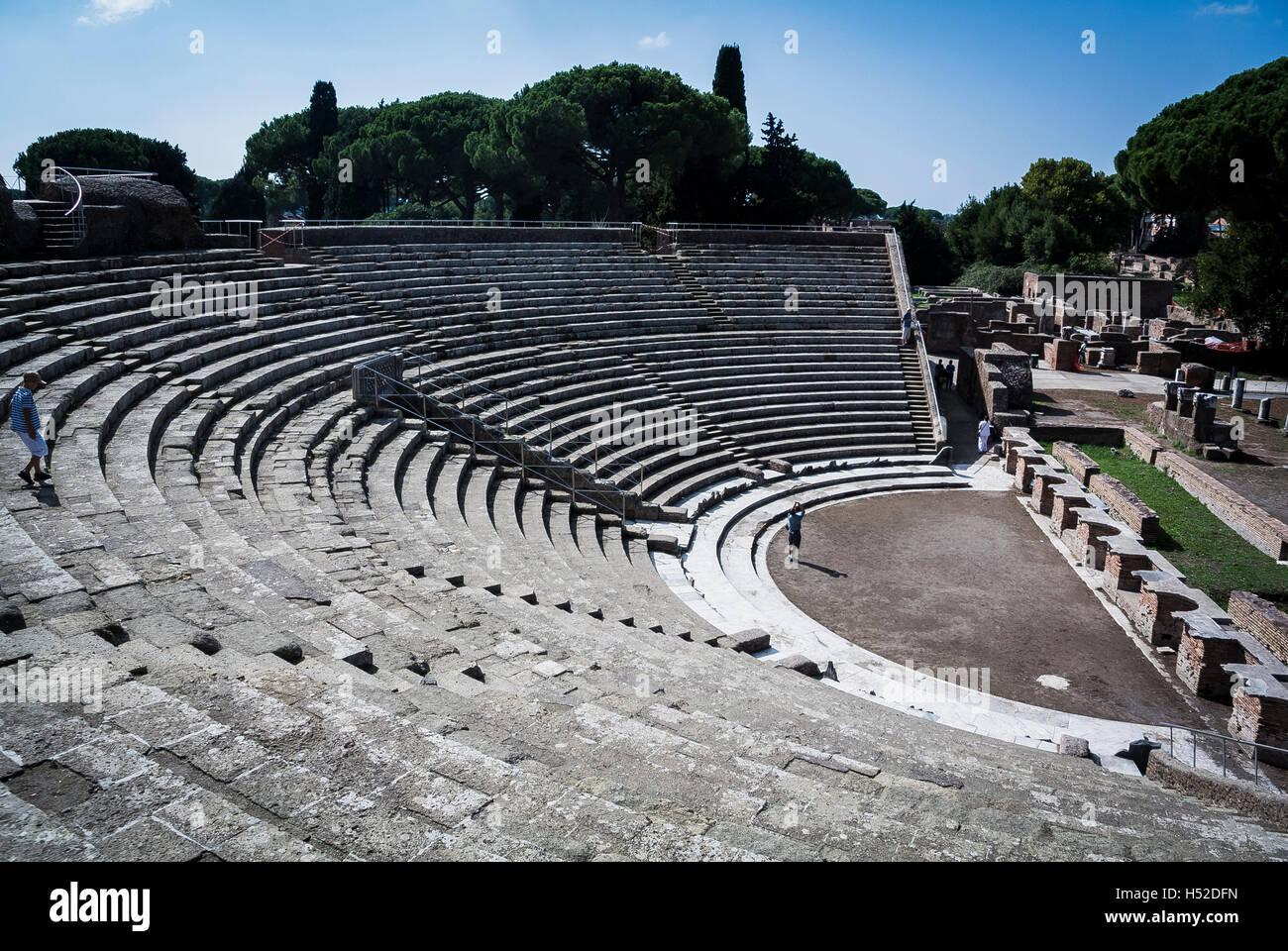 Teatro Ostia Antica Rome Italy - Stock Image