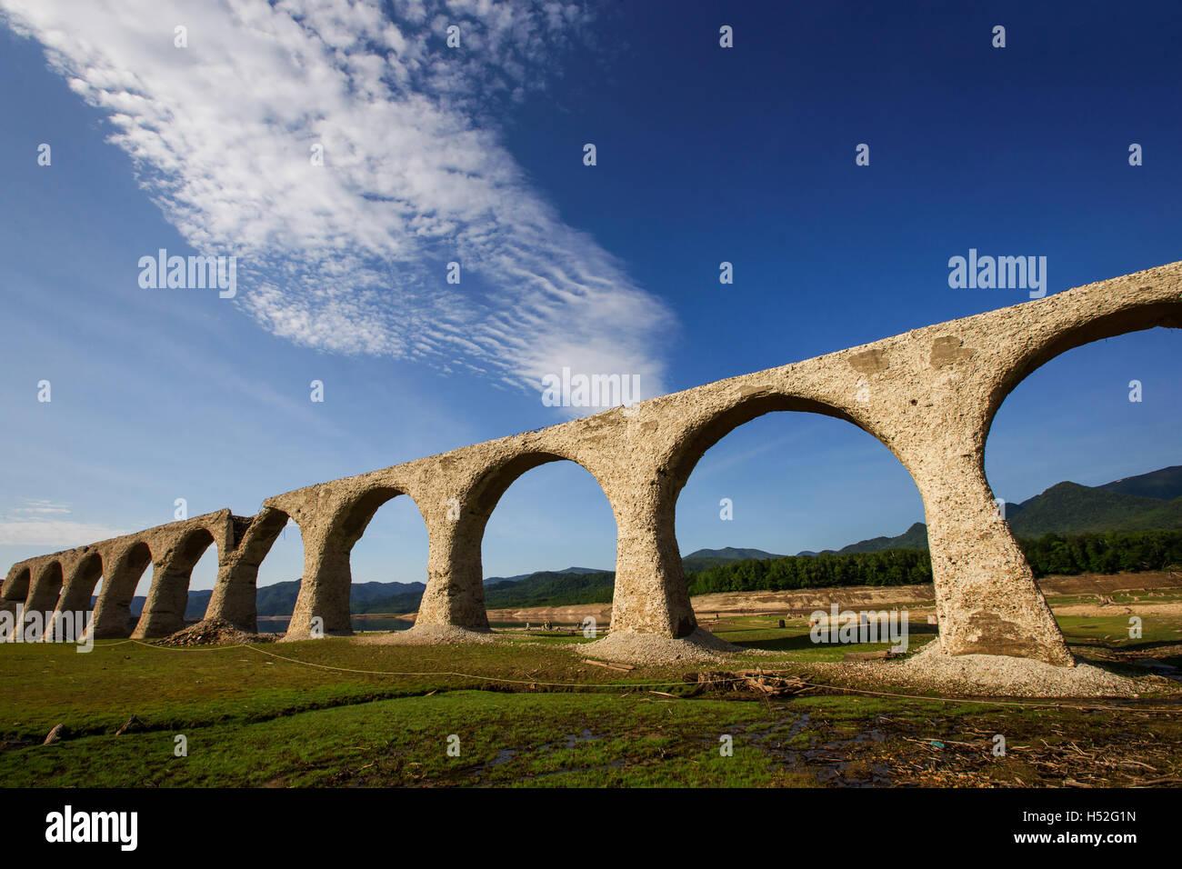 Tausyubetsu river bridge Stock Photo