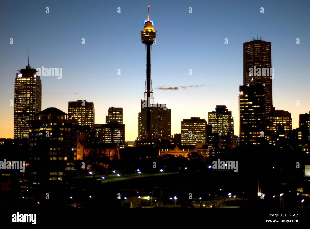 Australia, Sydney, city skyline from Darlinghurst - Stock Image