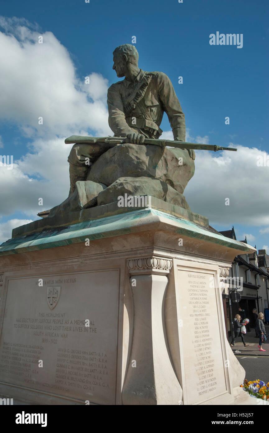 Suffolk South African War Memorial, Bury St Edmunds - Stock Image