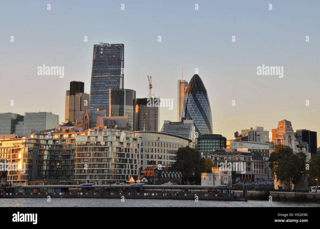 London's financial center, The City. - Stock Image