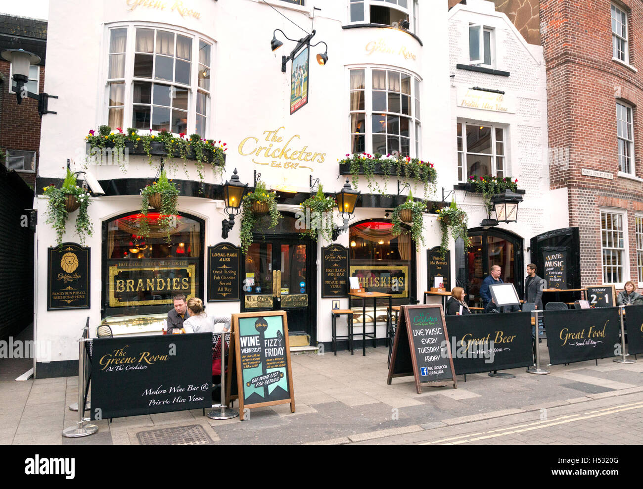 The Cricketers pub, the Lanes, Brighton, Sussex UK - Stock Image