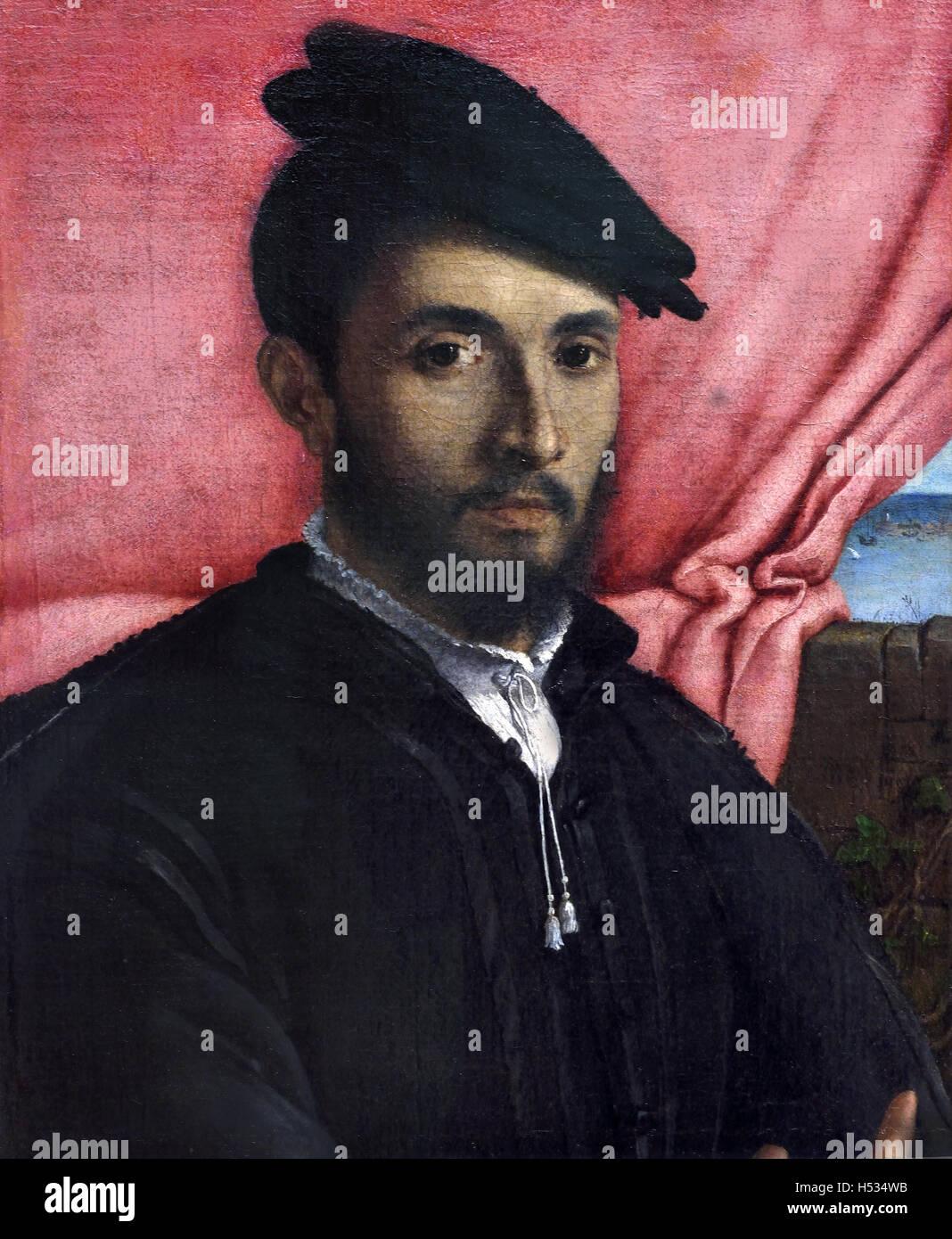 Portrait of a Young Man 1526 Lorenzo Lotto 1480 – 1556/57 Italian painter Venetian school, Italy Venice - Stock Image