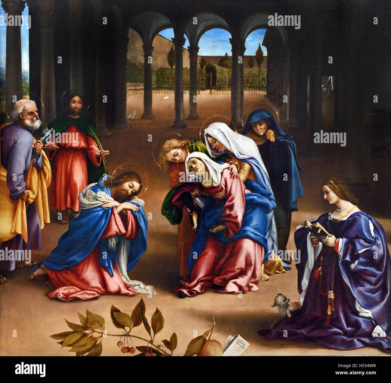 Christ took leave of his mother 1521 Lorenzo Lotto 1480 – 1556/57  Italian painter Venetian school, Italy Venice - Stock Image