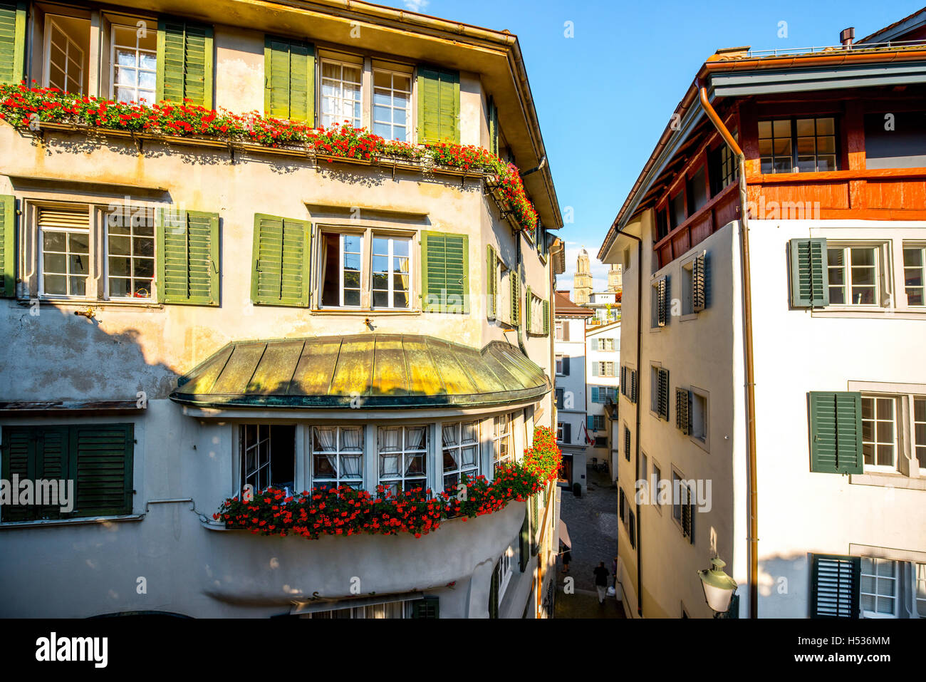 Architecture in Zurich city - Stock Image