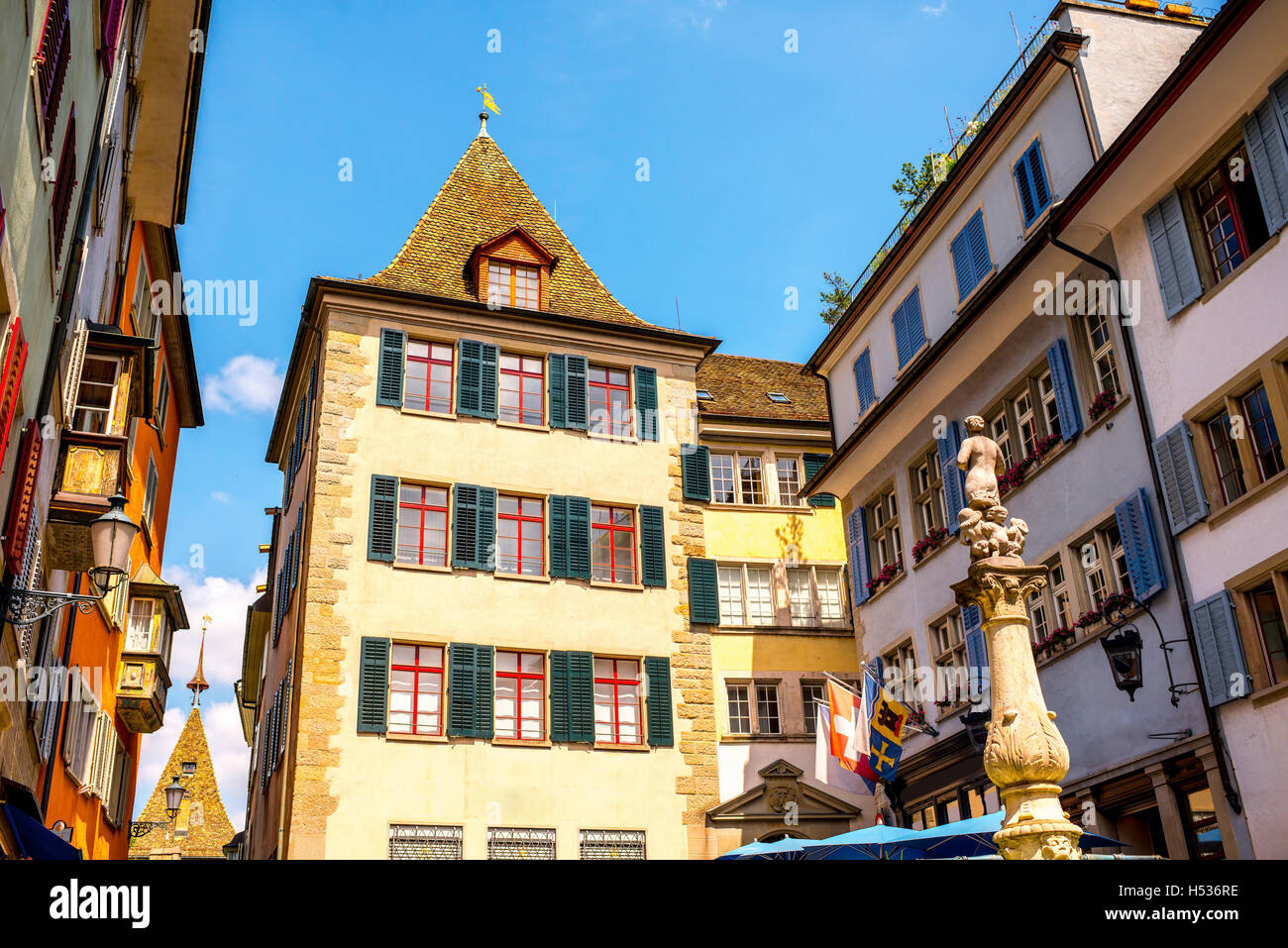 Zurich city in Switzerland - Stock Image