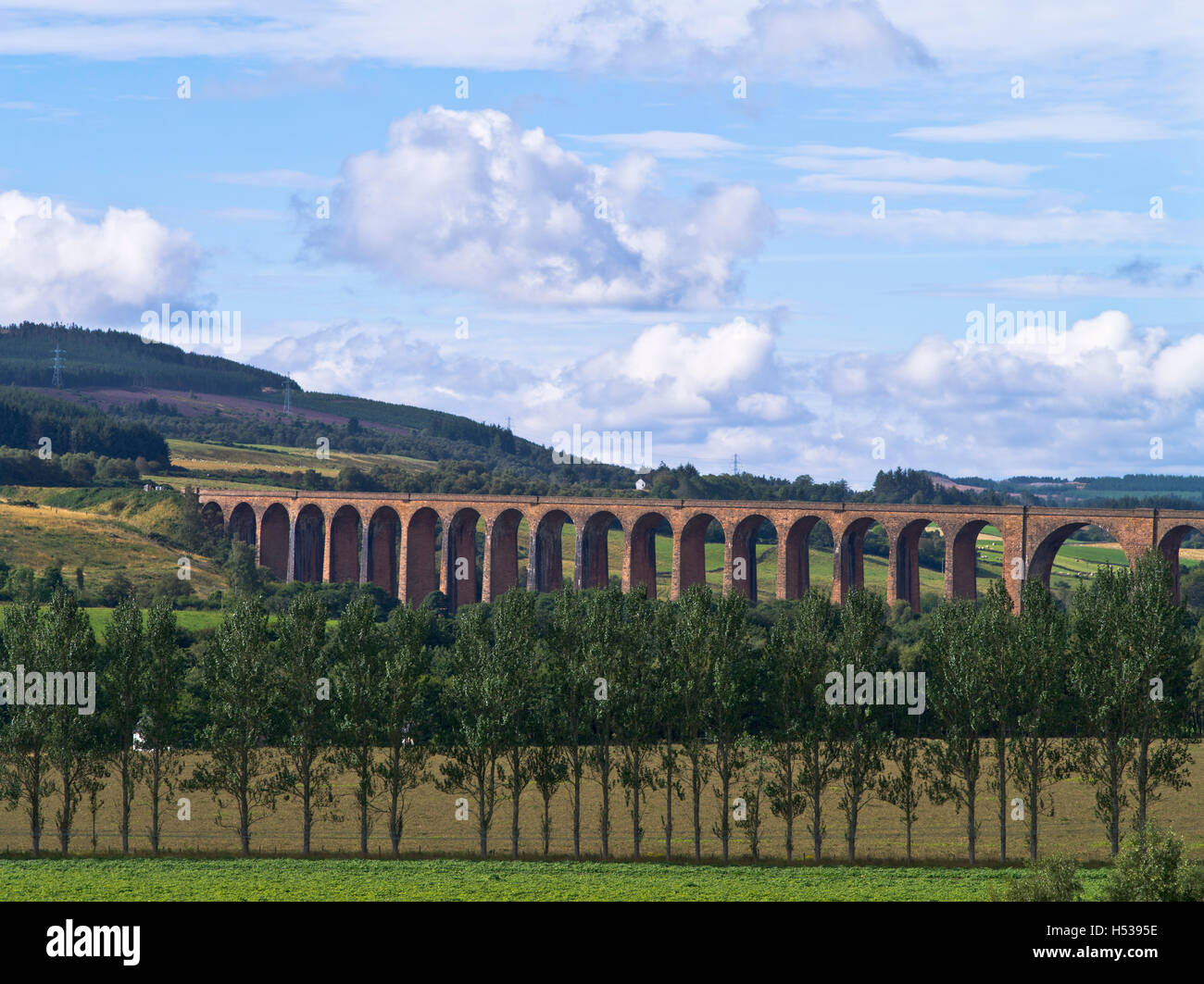 dh Nairn Railway Viaduct NAIRN VALLEY INVERNESS SHIRE culloden moor viaduct spanning the river nairn valley uk scotland - Stock Image