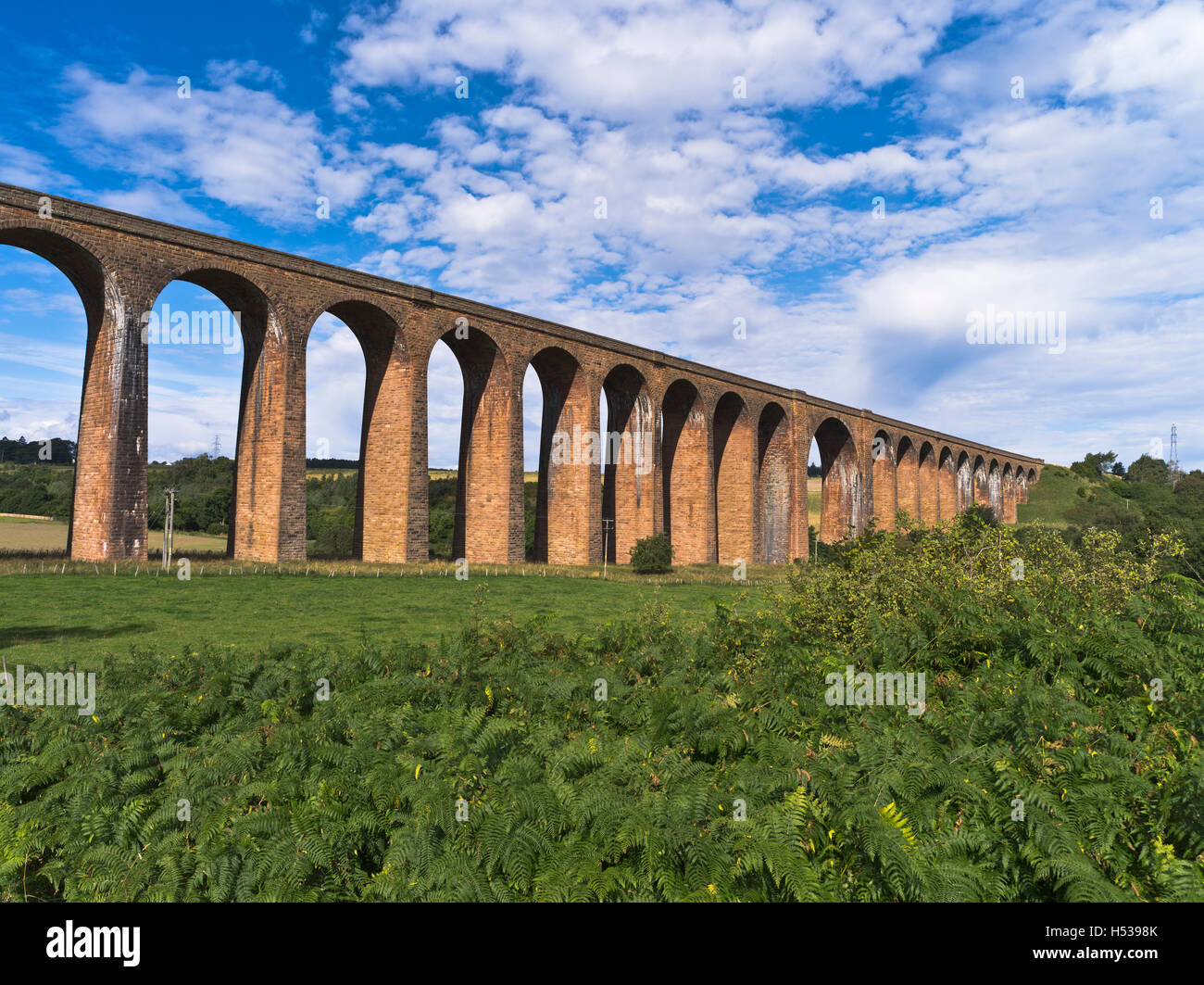 dh Nairn Railway Viaduct NAIRN VALLEY INVERNESS SHIRE Culloden Moor Viaduct spanning the River Nairn scotland - Stock Image