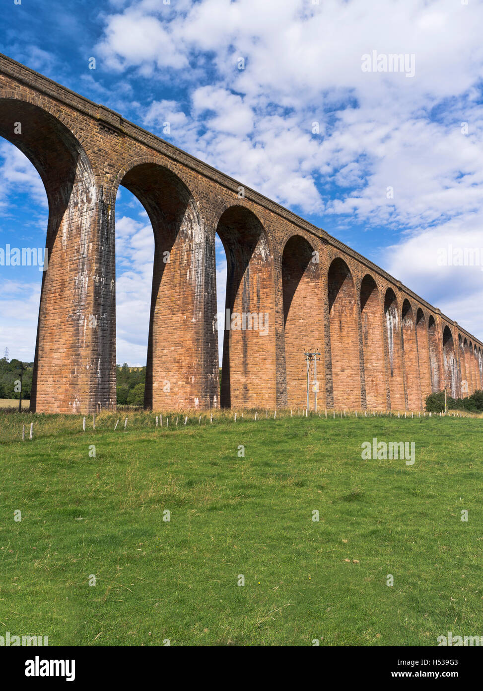 dh Nairn Railway Viaduct NAIRN VALLEY INVERNESS SHIRE culloden moor viaduct spanning the river nairn viaducts scotland - Stock Image