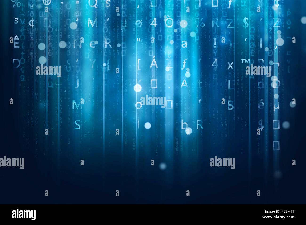 computer data stream background - Stock Image