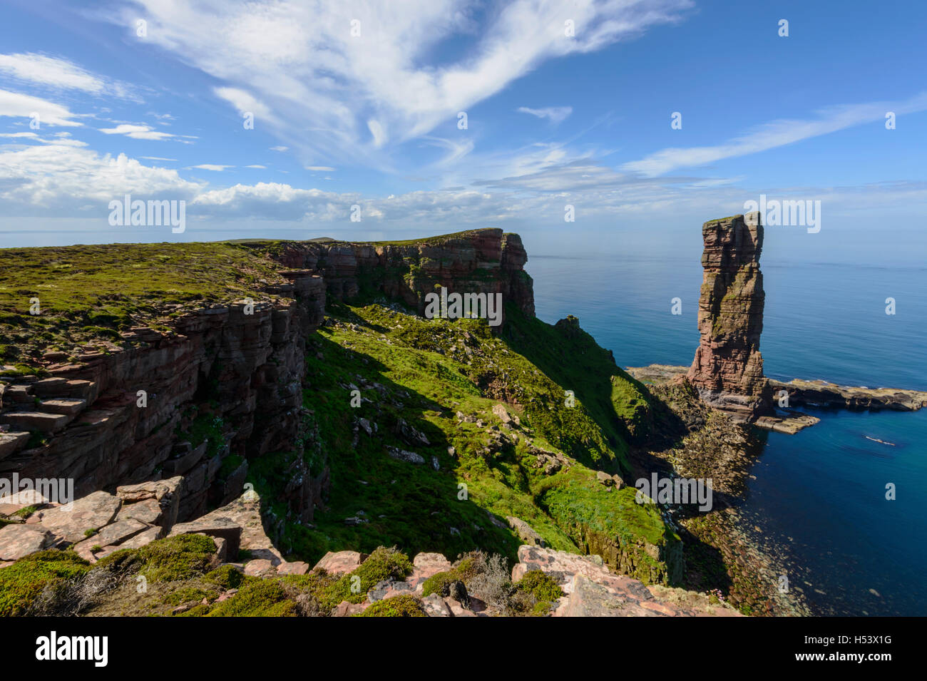 Old Man of Hoy, Hoy, Orkney Islands, Scotland. - Stock Image
