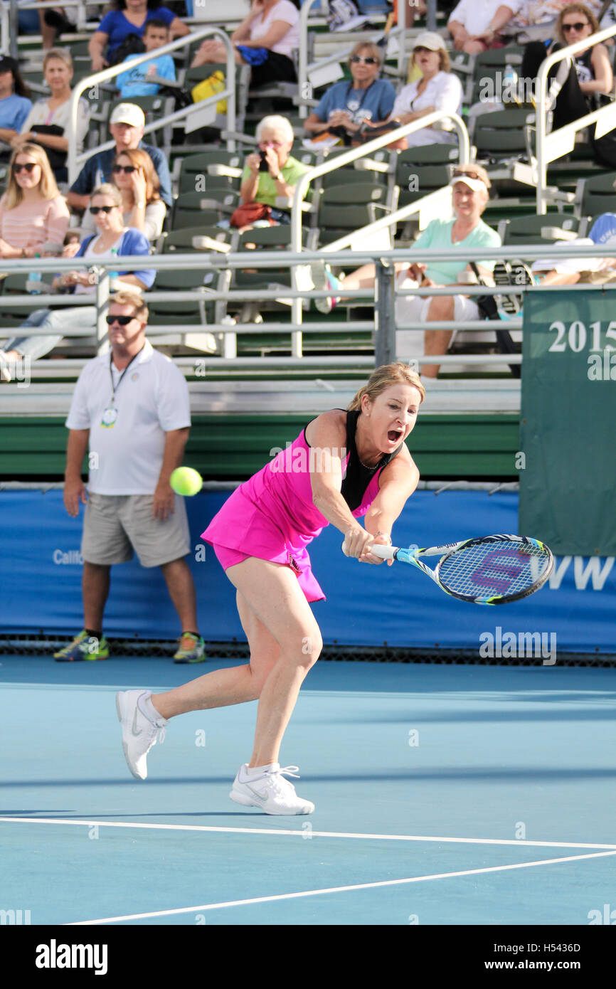 Chris Evert Two Handed Backhand On November 22 2015 At The Pro