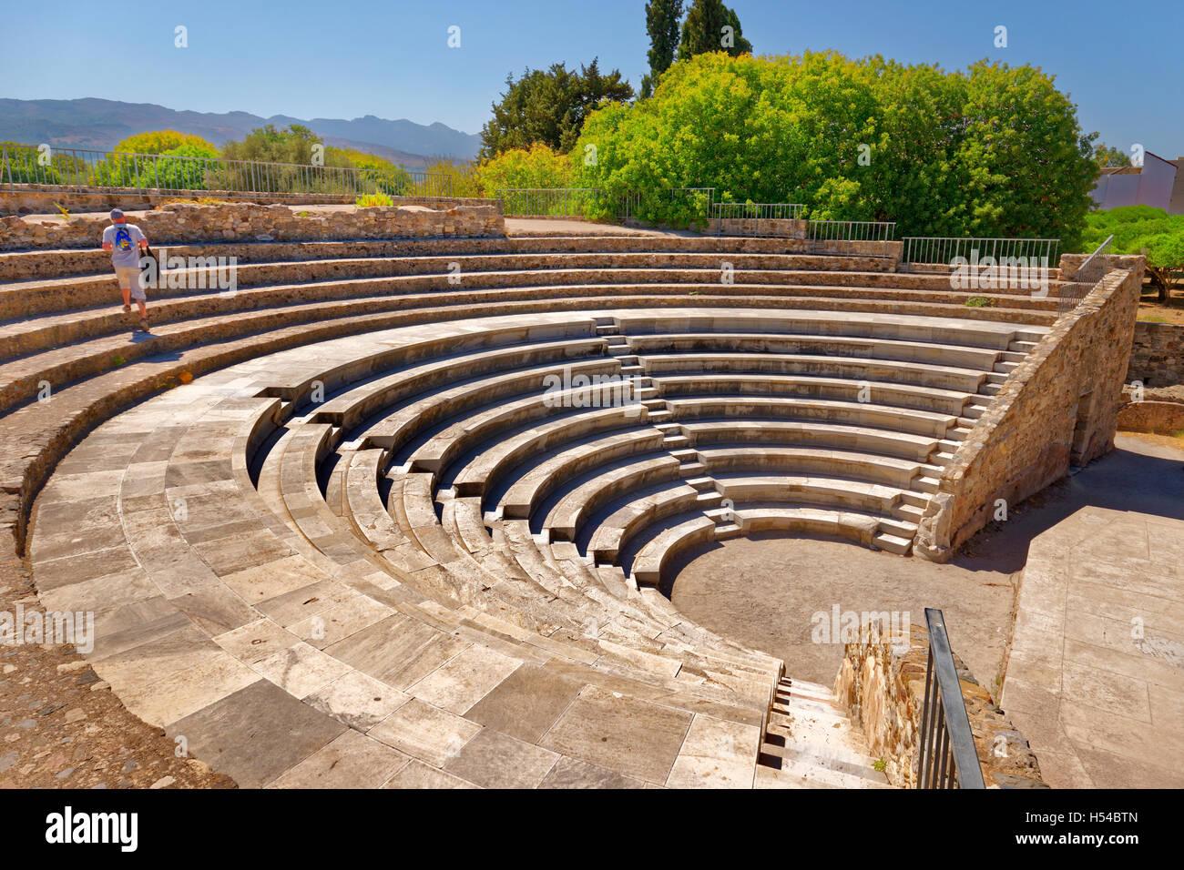 Odeon roman ampitheatre at Kos, Kos Island, Dodecanese Group, Aegean Sea, Greece. - Stock Image