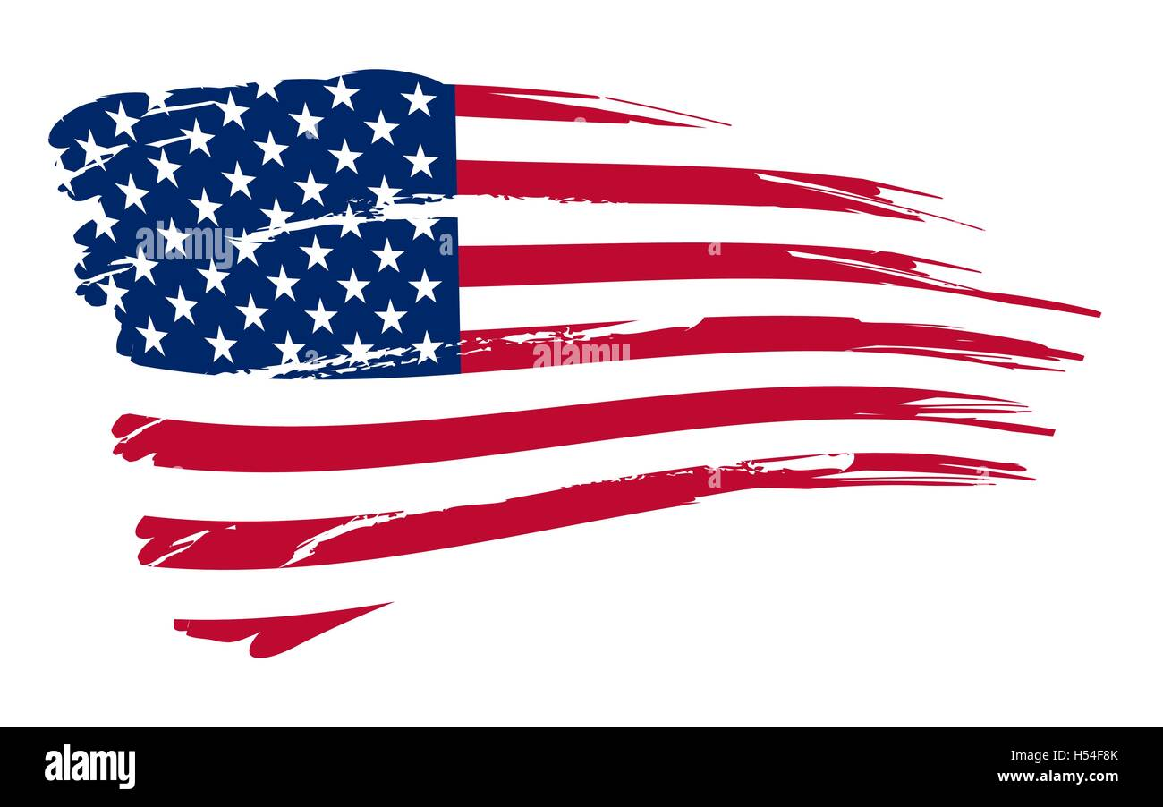 2e6f430aff7a American flag background fully editable vector illustration - Stock Vector