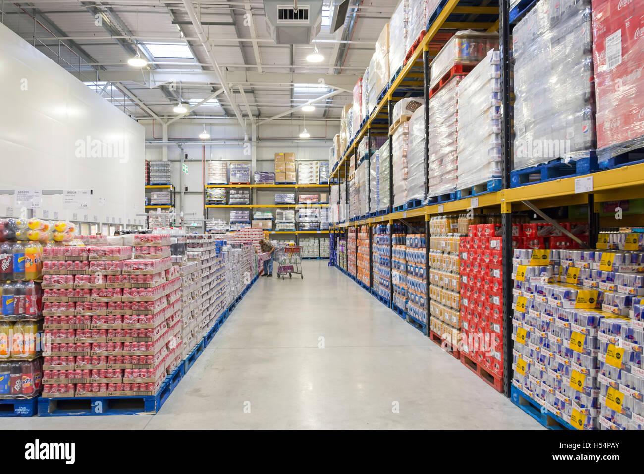 Interior of Costco Wholesale Store, Hanworth Road, Sunbury ...  Interior of Cos...