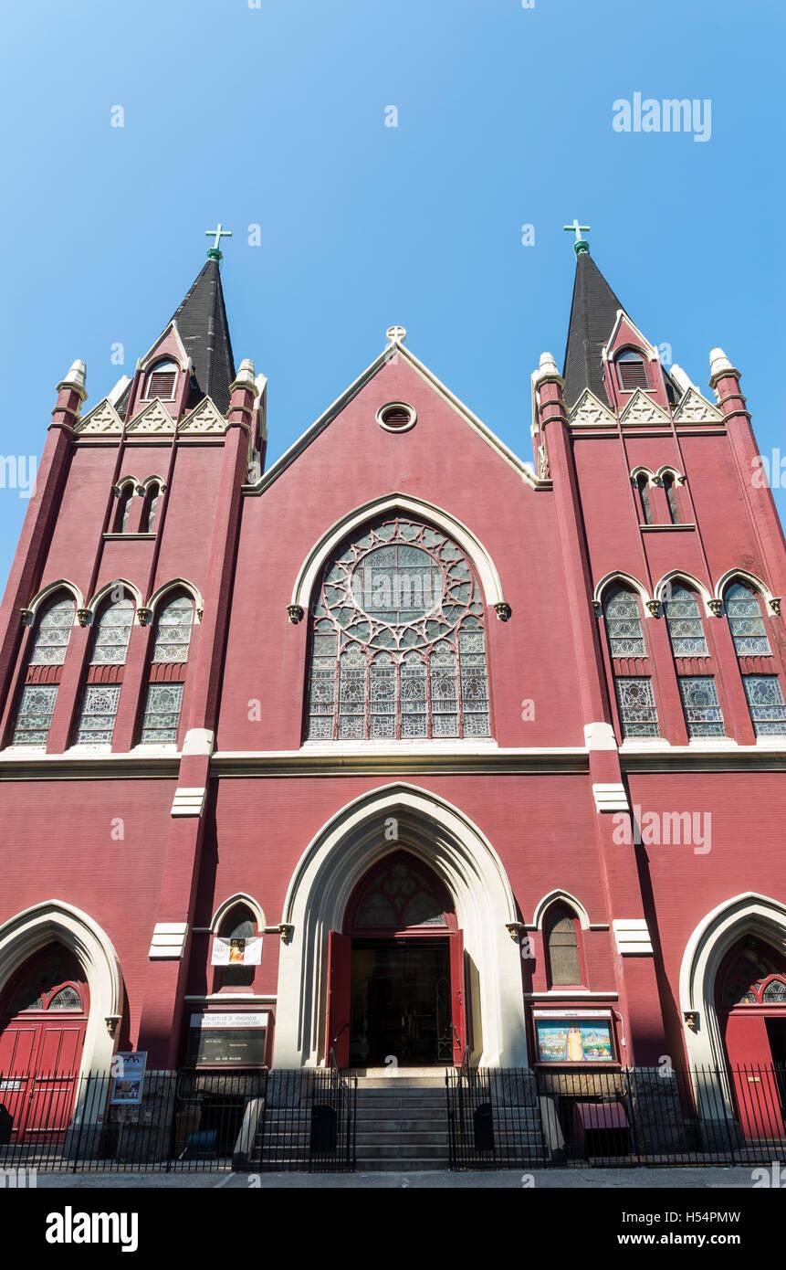 St Veronica's Catholic Church on Christopher Street, New York. - Stock Image