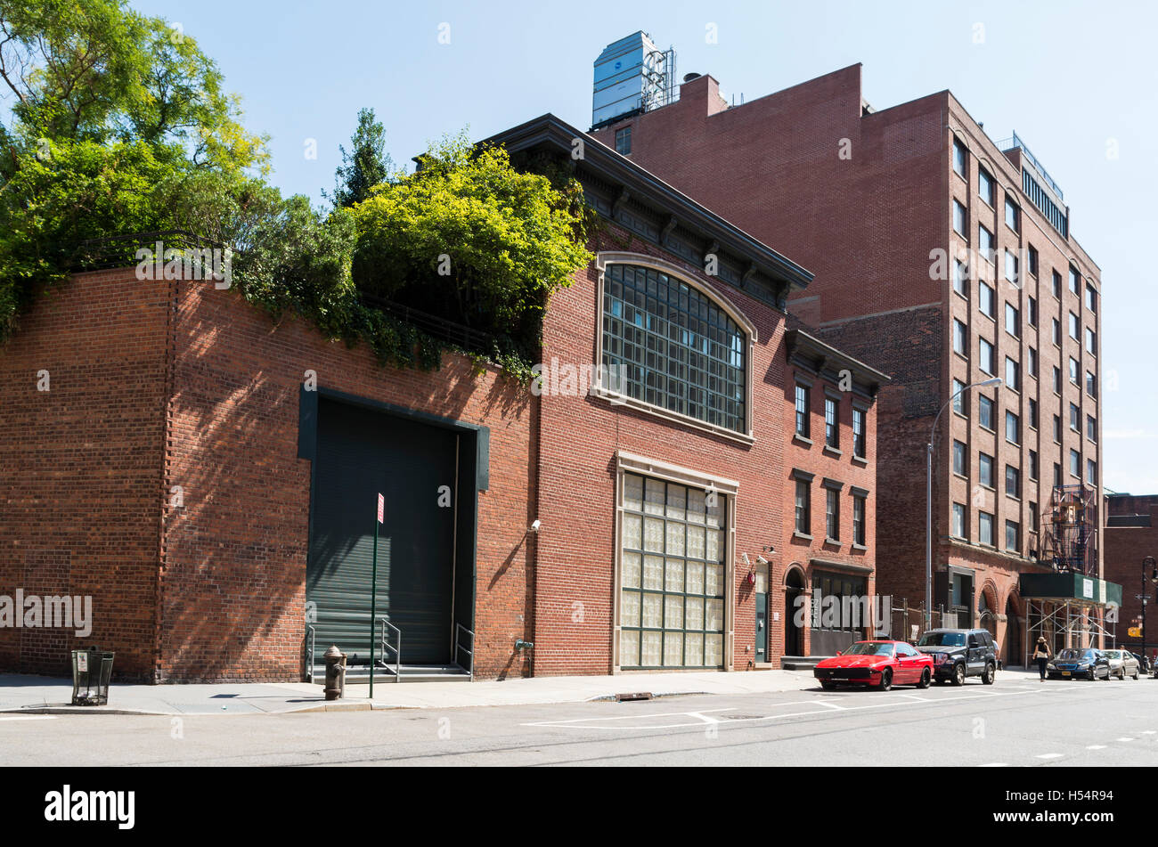 Converted industrial warehouse buildings in Greenwich Village, New York - Stock Image