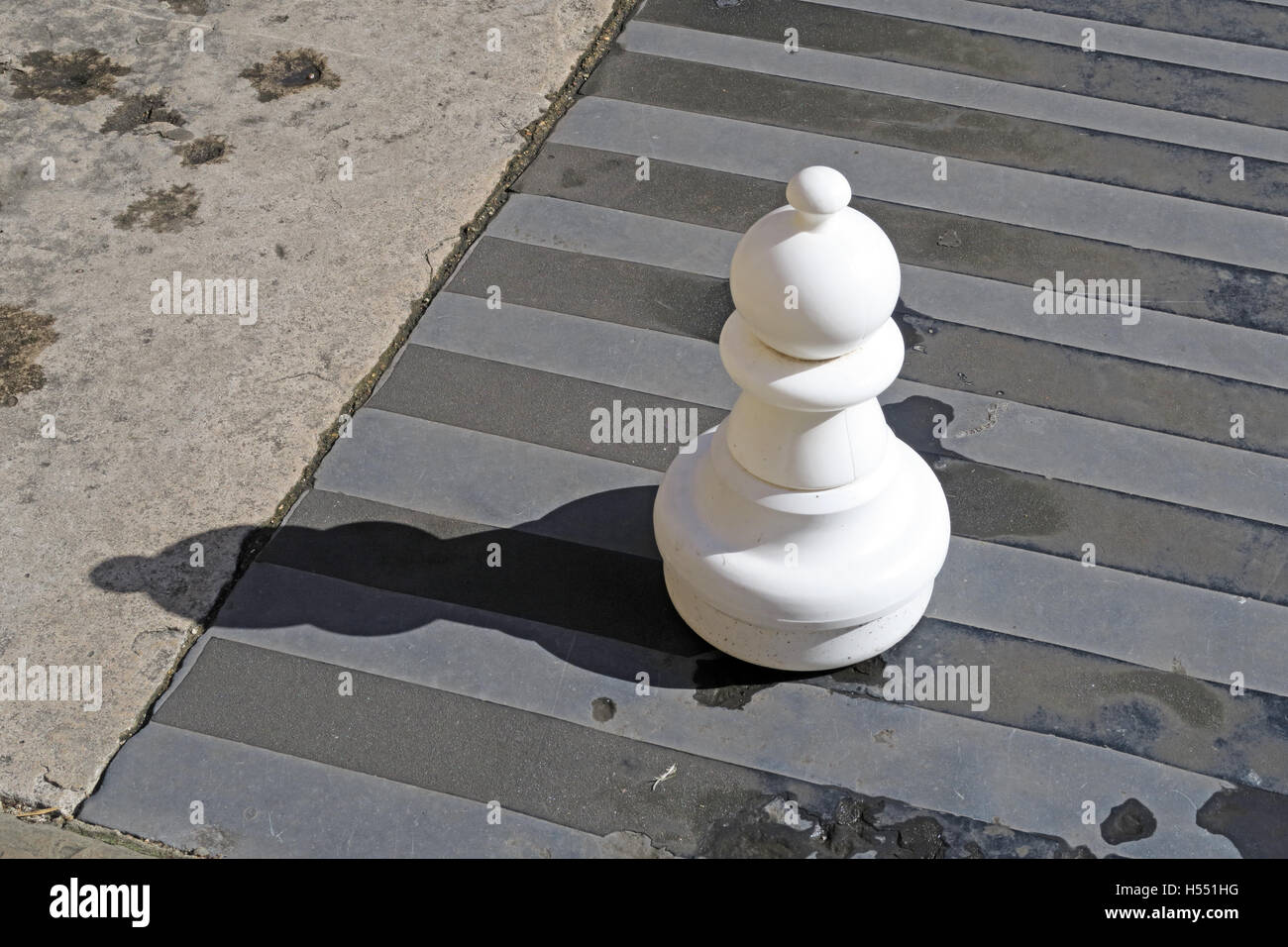 Giant Chess Pieces, London, England, UK - Stock Image