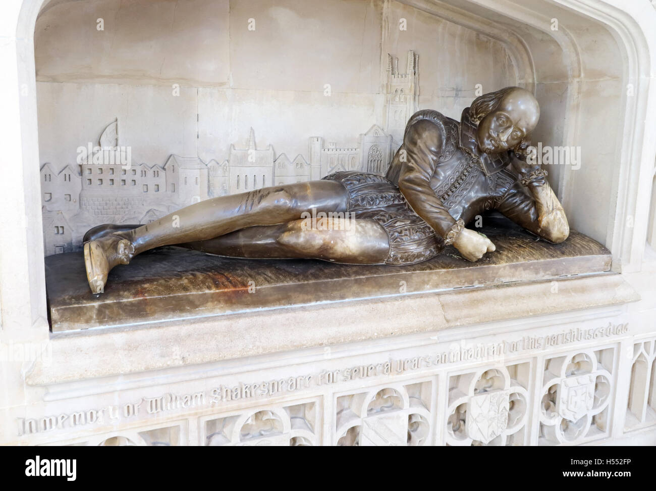William Shakespeare statue at Southwark Cathedral,London - Stock Image