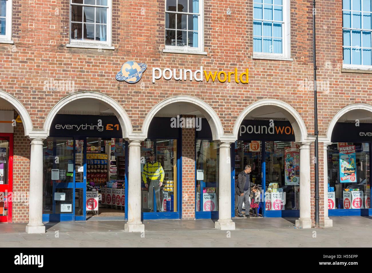 Poundworld discount store, High Street, High Wycombe, Buckinghamshire, England, United Kingdom - Stock Image
