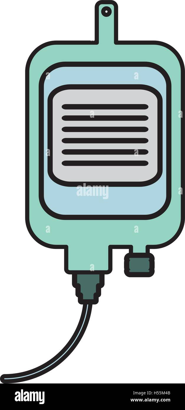 iv bag medical isolated icon - Stock Vector