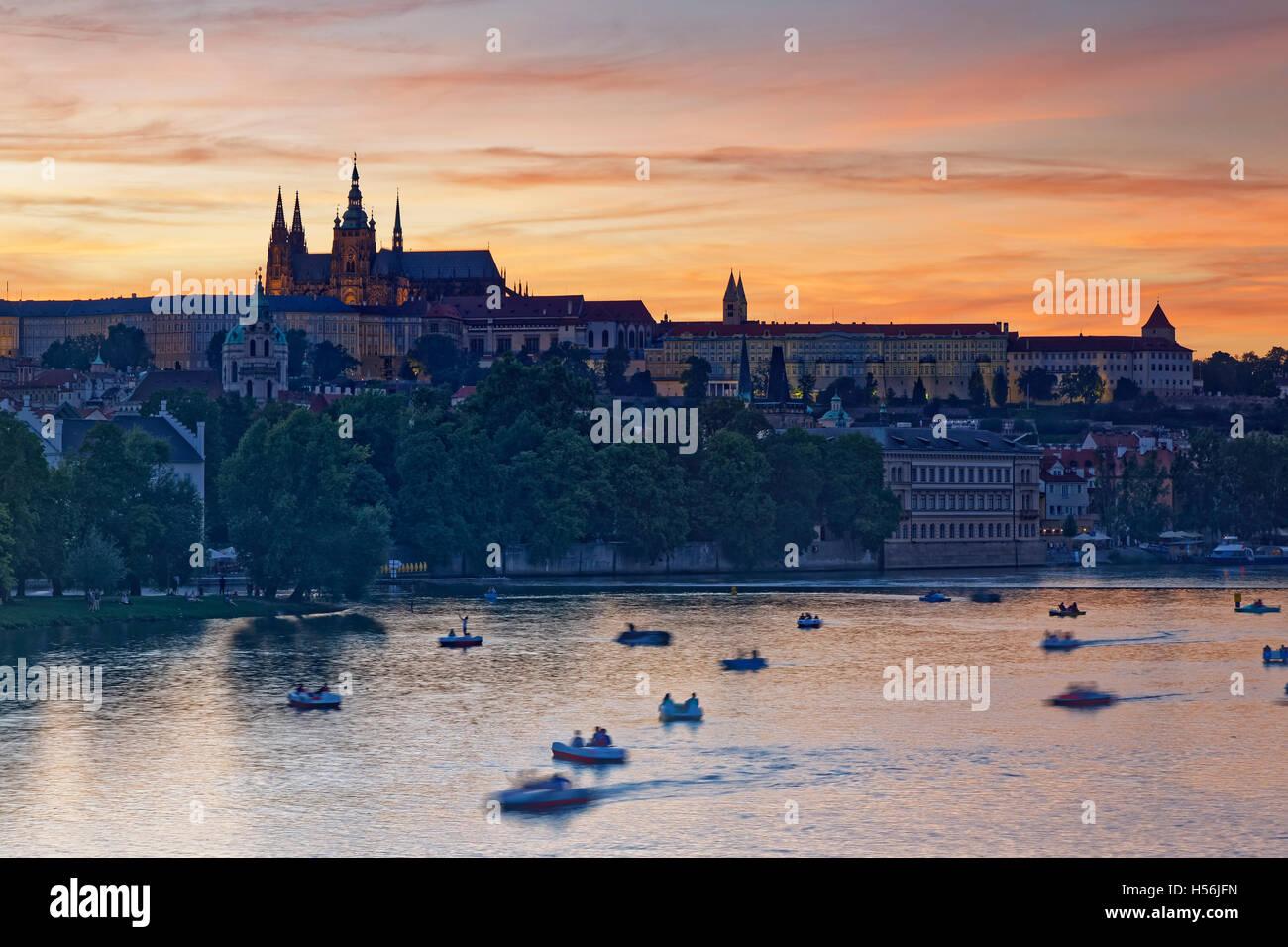 Prazsky hrad, Prague Castle and St. Vitus Cathedral, Hradčany, historic centre Praha, Prague, Czech Republic Stock Photo