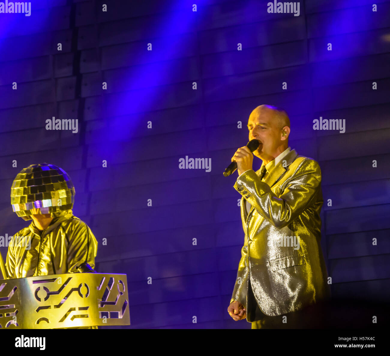 Pet Shop Boys performing at Festival No.6, Portmeirion, Wales, UK - Stock Image
