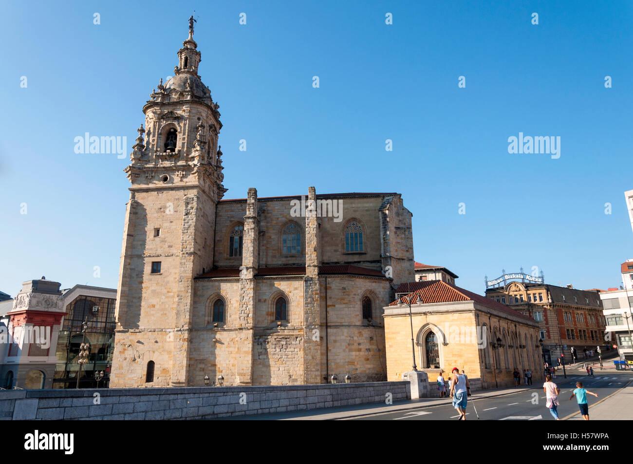 Church San Antonio Abadearen Eliza, Bilbao, Spain - Stock Image
