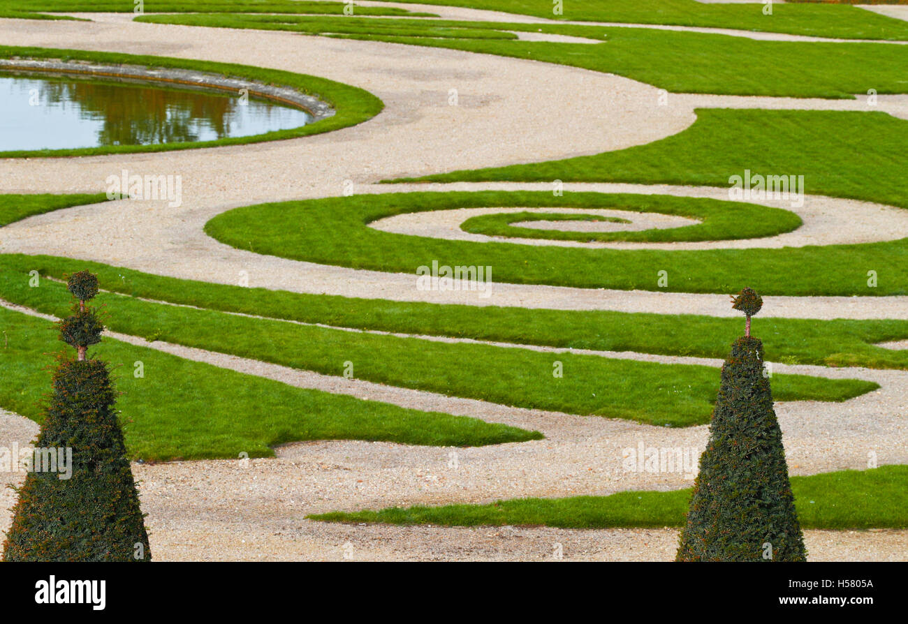 Versailles gardens, Palace of Versailles, UNESCO World Heritage Site, Yvelines, Region Ile-de-France, France - Stock Image