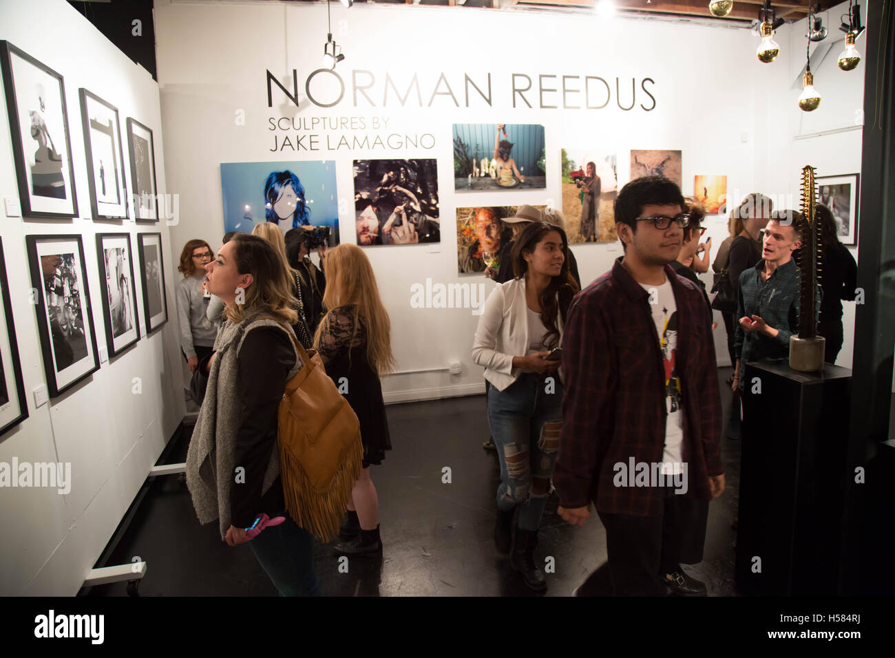 Guest atmosphere at Norman Reedus: A Fine Art Photography Exhibition at Voila! Gallery on November 12, 2015 in Los Angeles, California, USA Stock Photo