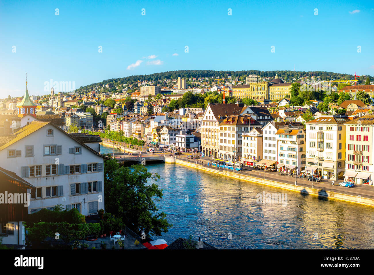 Zurich city in Switzerland Stock Photo