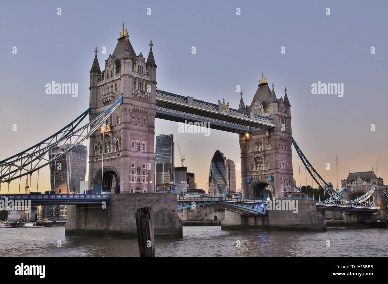 London's Tower Bridge. - Stock Image