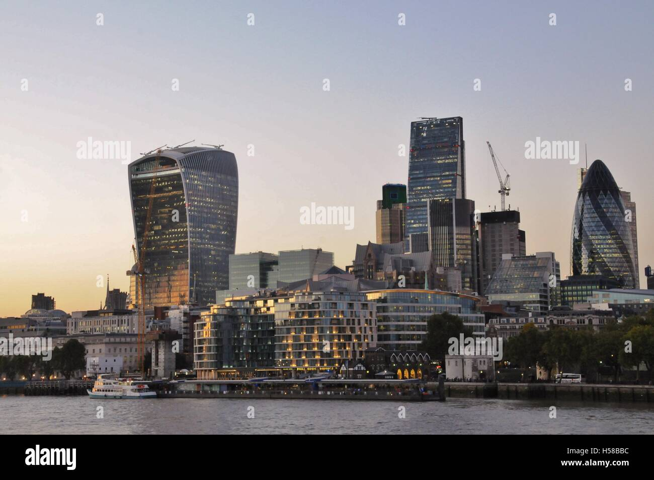 The City of London's financial district. - Stock Image