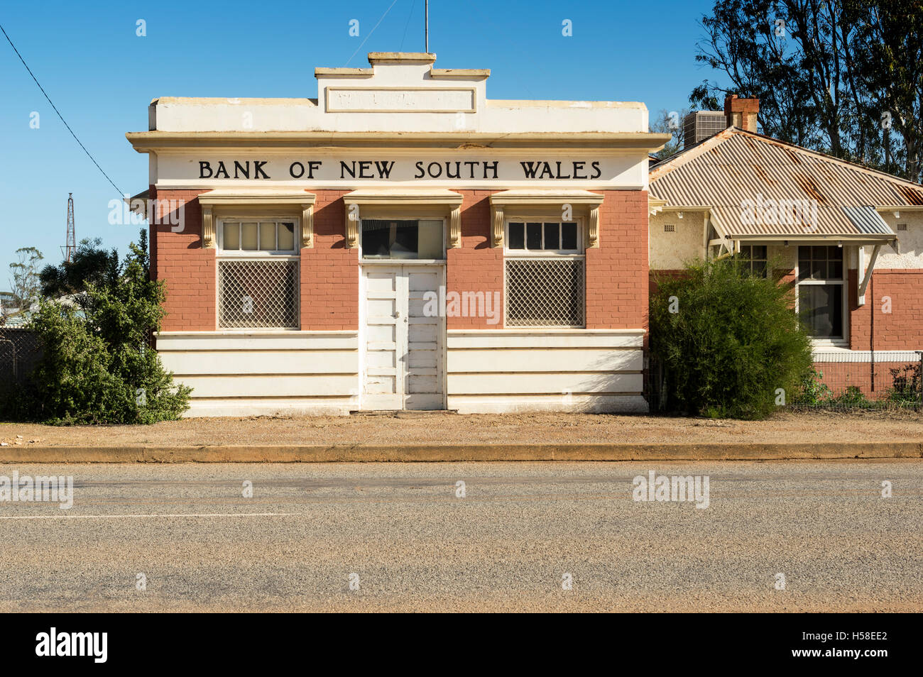 Closed bank in outback Western Austrlai - Stock Image