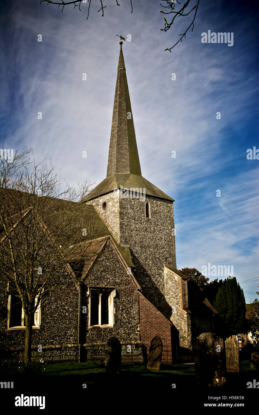 Eynsford St Martin's church Stock Photo