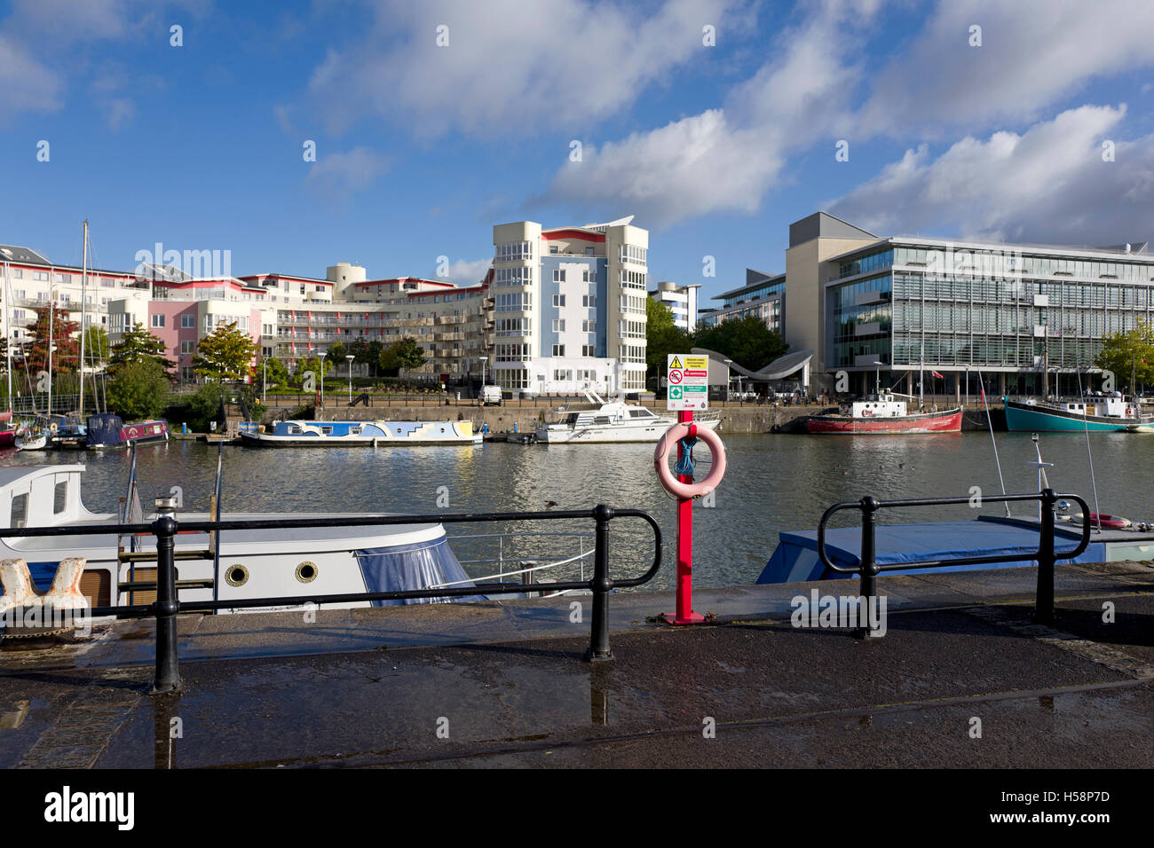 Bristol harbour, UK - Stock Image