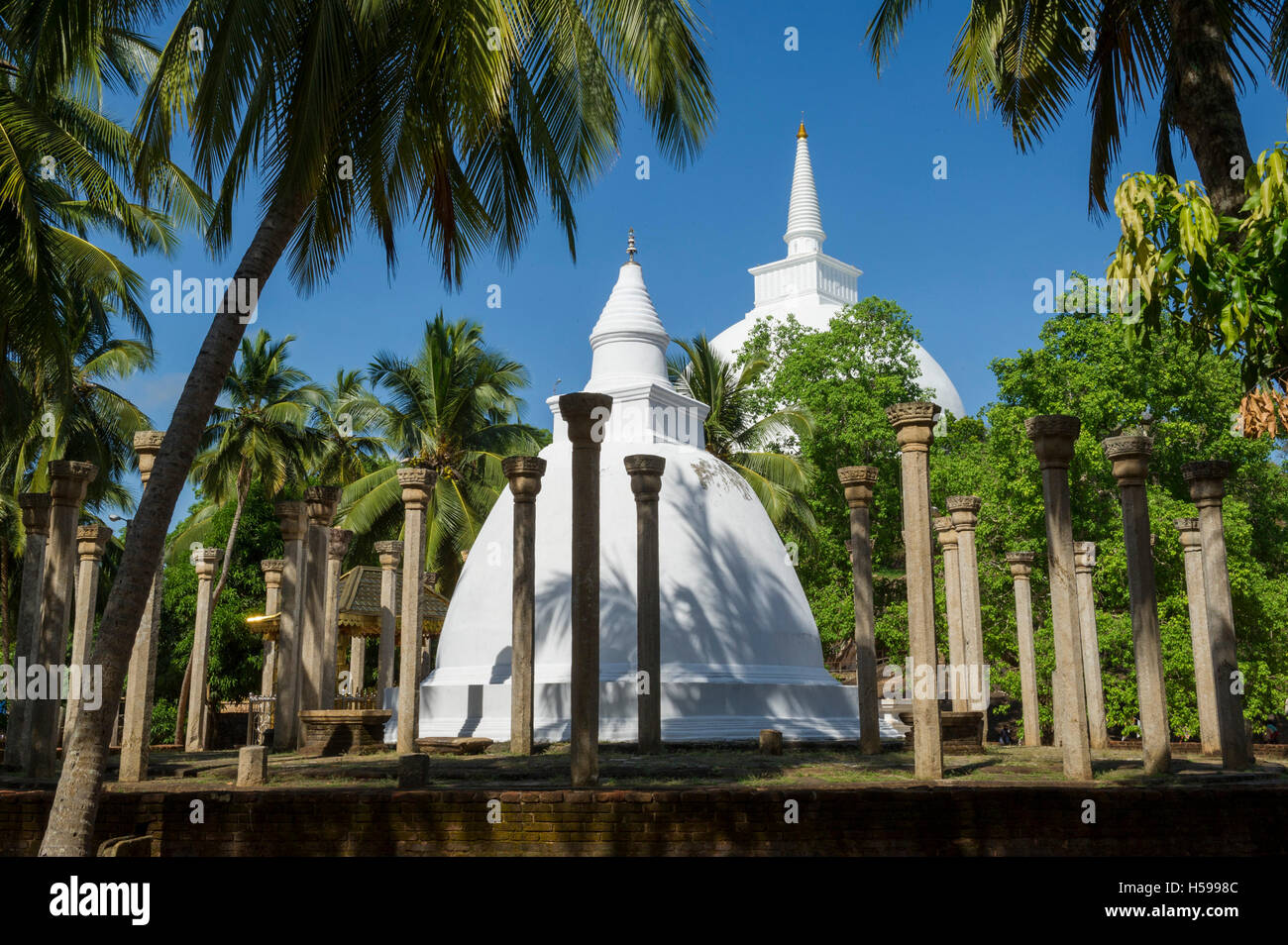 Ambasthale Dagoba, Mihintale temple, Anuradhapura, Sri Lanka Stock Photo
